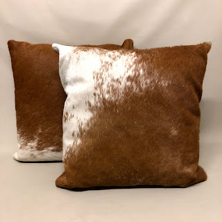 Cowhide Pillow Pair