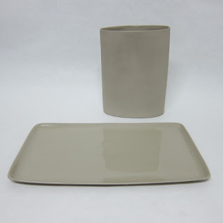 Mud Australia Vase & Tray Set, in Putty