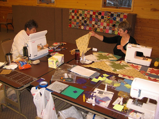 Quilting station.