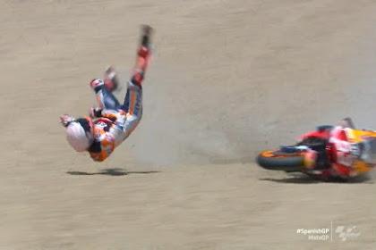 Video: Detik-detik Marquez Crash - MotoGP Jerez, 19 Juli 2020