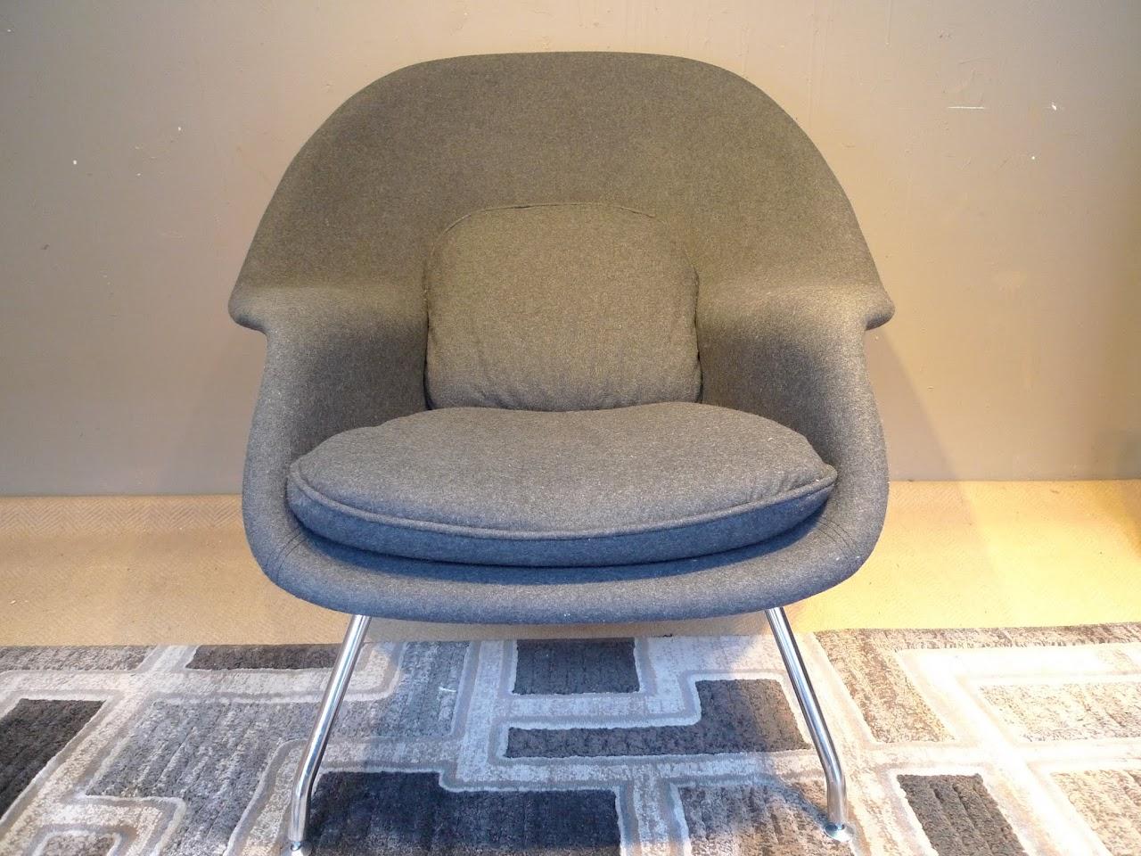 Saarinen Womb-Style Chair and Ottoman