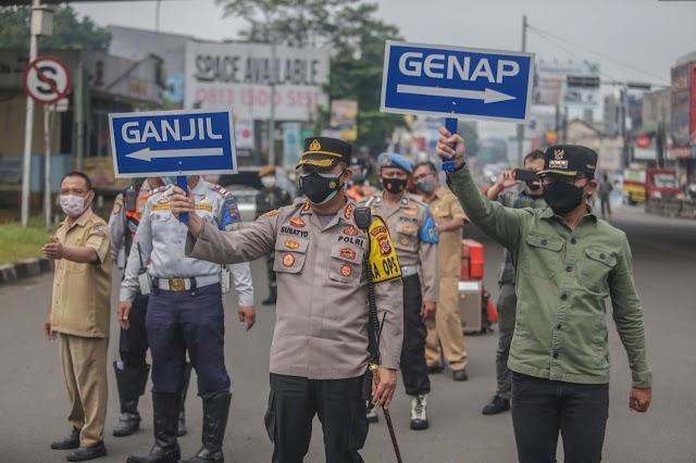 Hari Pertama Ganjil Genap PPKM Level 4, Kota Bogor Cenderung Sepi