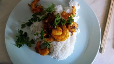 Leberkassemmel: Garnelen Curry