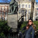 leontien with Johan van Oldenbarnevelt in Den Haag, Zuid Holland, Netherlands