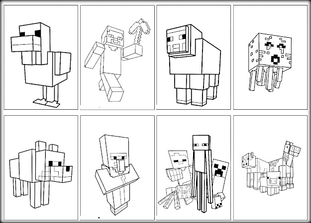 Minecraft Mutant Creeper Coloring Pages