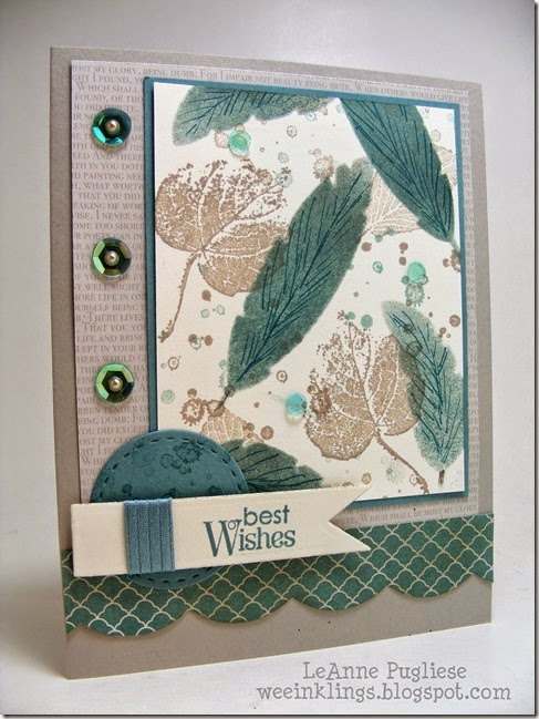 LeAnne Pugliese WeeInklings French Foliage Feathers Stampin Up