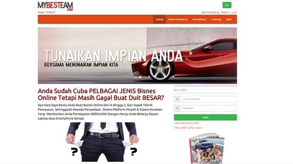 laman web promosi dan pengurusan penajaan