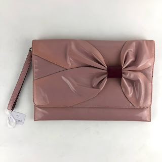 """CLEARANCE"" Valentino Blush Bow Clutch"