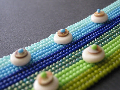 Embellished Ombre Herringbone Cuff