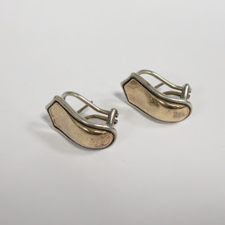 14K Gold and Sterling Silver Earrings