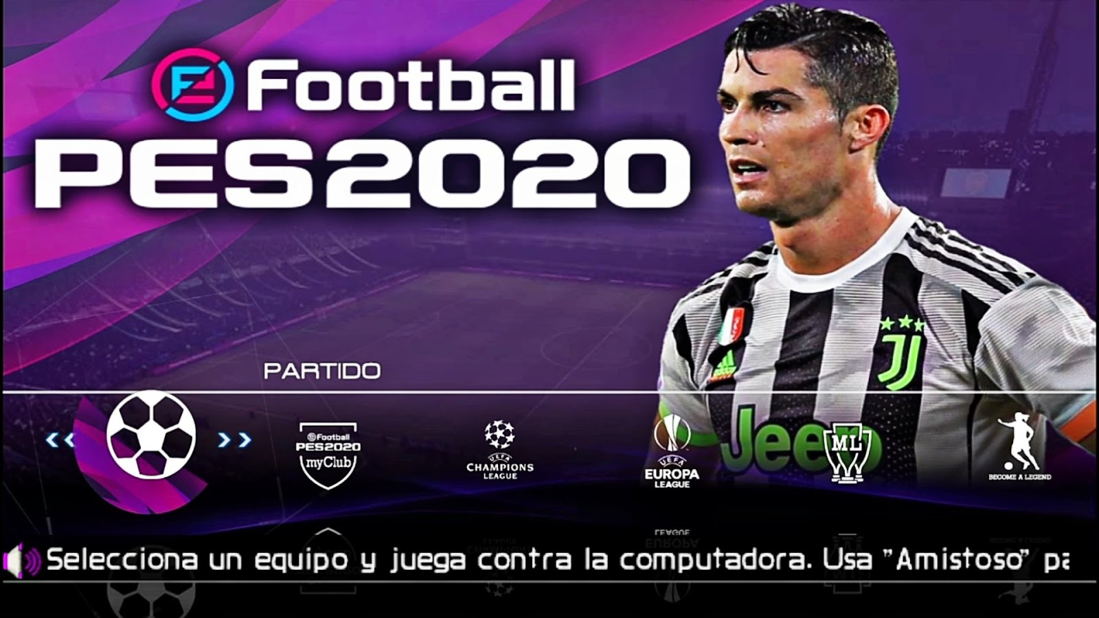 eFootball PES 2020 Câmera PS4 Lite 400MB PPSSPP Offline ANDROID