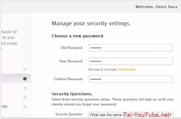 Hình 6 - Hướng dẫn cách đổi mật khẩu iCloud trên Apple ID