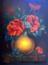 Photo: 17. Red Poppies in a Clay Pot. 18 x 24 oil on canvas. $299.00