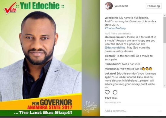 "Actor Yul Edochie To ""Run For Governor Of Anambra State"""