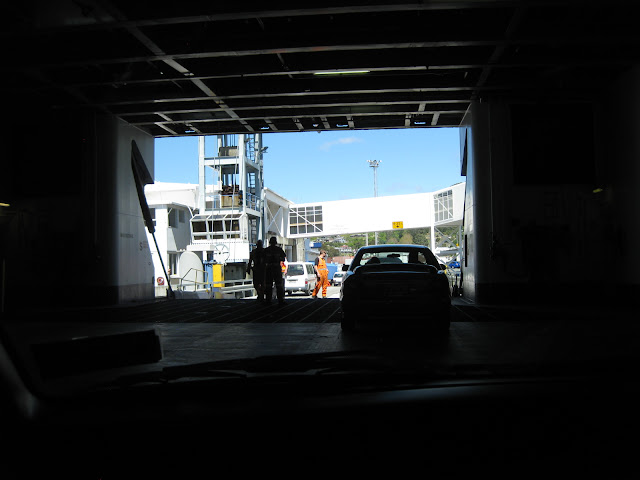 Driving off the Interislander ferry in Picton