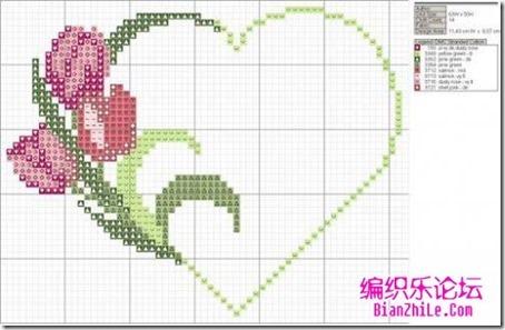 corazones en punto de cruz laborespuntocruz (19)