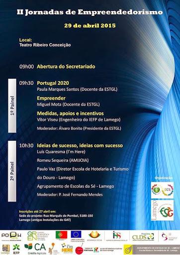 II Jornadas de Empreendedorismo de Lamego - 29 de Abril
