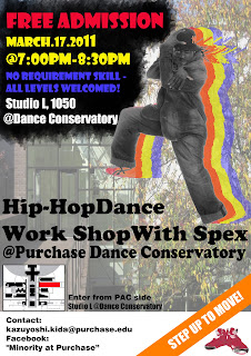 Hip-Hop Dance Workshop at Purchase Dance Conservatory