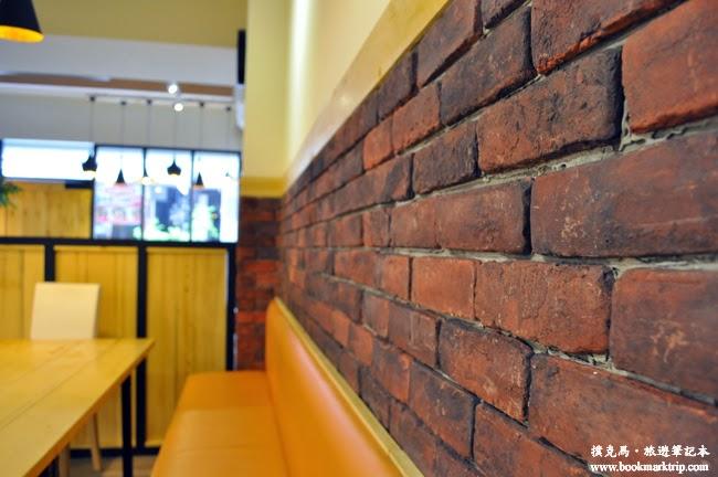 The Baker焙客早午餐紅磚牆設計