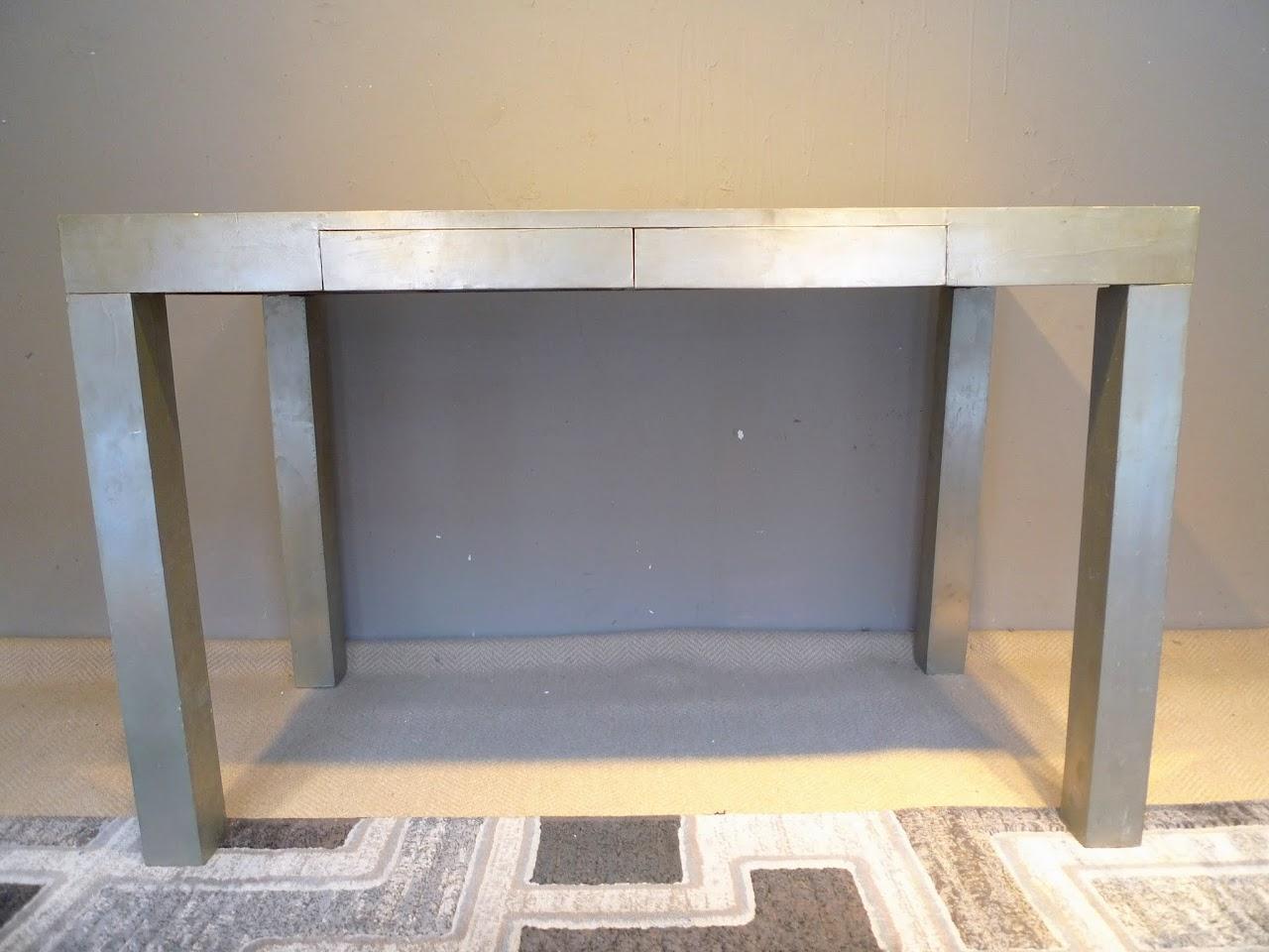 West Elm Metal Cladded Parsons Desk