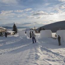 Schneeskulpturenwettbewerb 2012 im Kinderpark der Ski & Snowboardschule Gitschberg