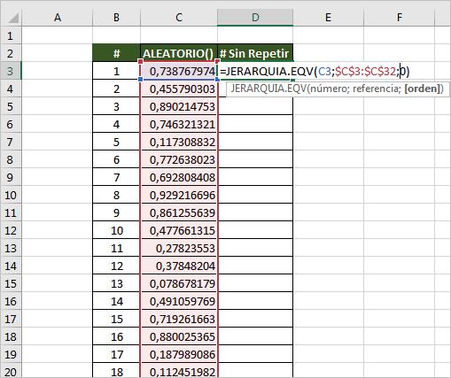 generar numeros aleatorios sin repetir