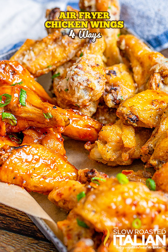 title text (shown on parchment paper): air fryer chicken wings