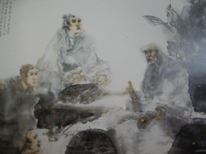 Confucius Lecturing Rites By Zhang Wenlai, Confucius