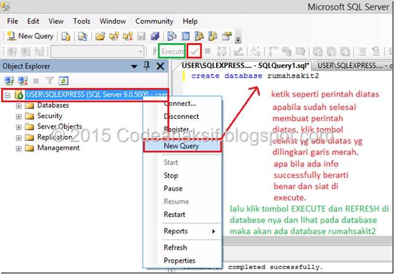 Membuat Table Menggunakan QUERY / CODING dengan SQL Server