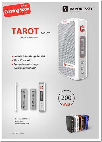 tarot vapor thumb%25255B2%25255D - 【MOD】ちょい高級VAPE!VAPORESSOの200W VW/TC MOD「TAROT 200 VTC」近日登場!最高3Ωまで対応