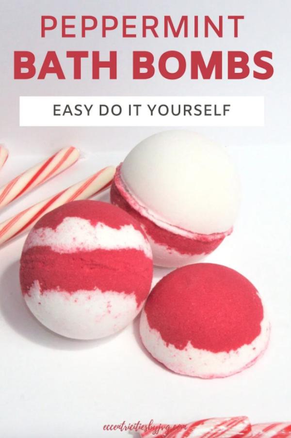 DIY Peppermint Bath Bomb Tutorial