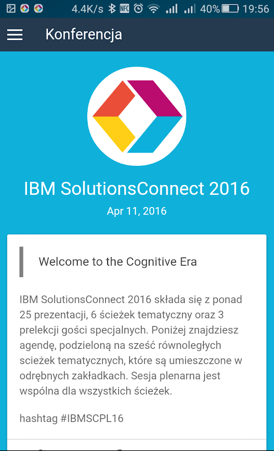IBM SolutionsConnect 2016- screenshot