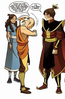 Zuko talking to Aang and Katara