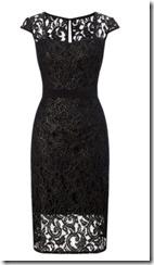 Adriana Papell metallic lace sheath dress