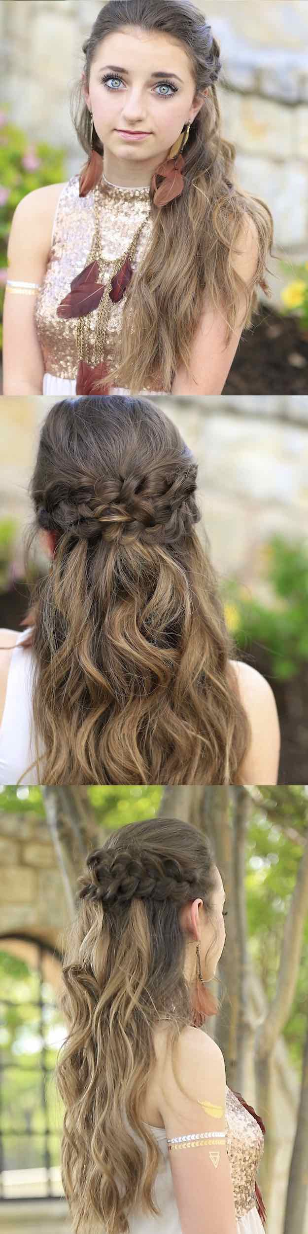 2018 Easy Half-Up Half-Down Hairstyle Tutorials 1