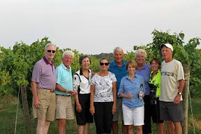 Left to right: Bob Frank, Jim Harmon, Kay Dermody, Patti Jones, Ray Hawkins, Jean Harmon, Mary Frank, Linda Hawkins and Dave Jones