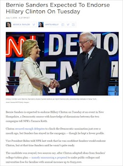 20160707_1627 Bernie Sanders Expected To Endorse Hillary Clinton (NPR).jpg
