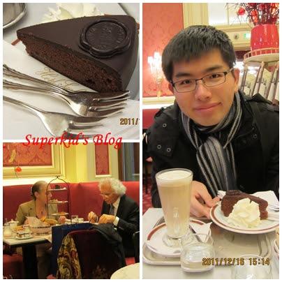 我在維也納吃薩賀蛋糕
