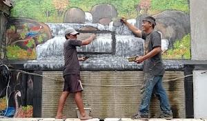 Seniman Mural dari Purwakarta Tawarkan Lukisan Dinding Nuansa Alam