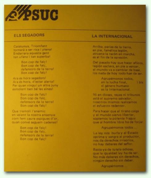 Propaganda PSUC 1977