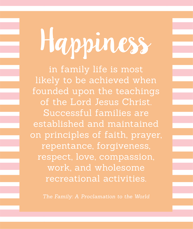 The Family Proclamation Quote YW Handout