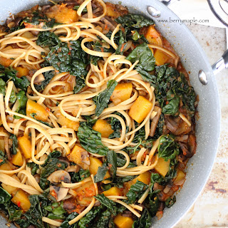 Butternut Squash Kale Linguine Recipe