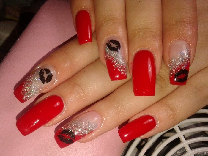 Latest Kiss Nails Art for Valentine\'s Day 2016 | Fashionte