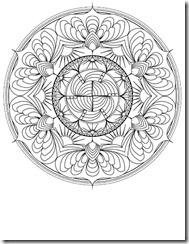 Mandala dificil para colorear