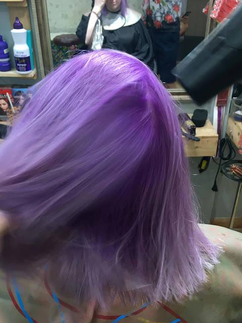 Dạy nhuộm tóc màu tím sữa Pastel Purple nhìn phát là yêu ngay