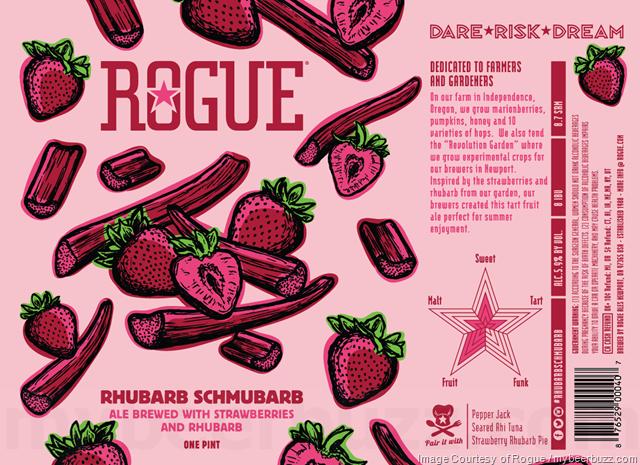 Rogue Adding Rhubarb Schmubarb 16oz Cans