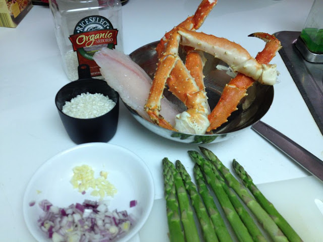 snow crab and asparagus risotto