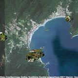 Localisation des photos autour de Maranduba (Ubatuba, SP) : à l'est : Lagoinha ; à l'ouest : Arariba ; au sud : Pulso et Caçandoca