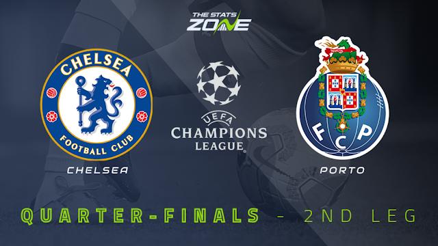 Watch Live Stream Match: Chelsea vs FC Porto (UEFA CHAMPIONS LEAGUE)