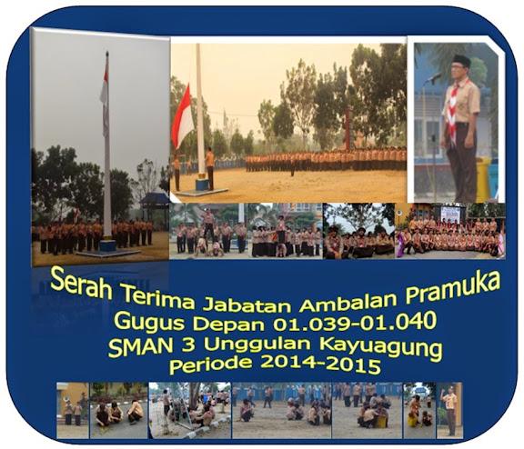 Sertijab Ambalan Pramuka Periode Tahun 2014-2015